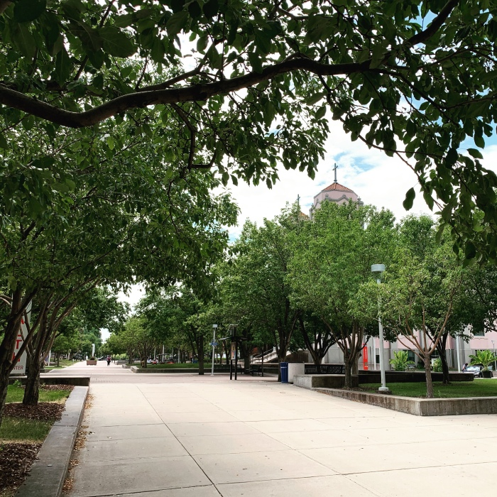 A picture of the Auraria campus in Denver, CO